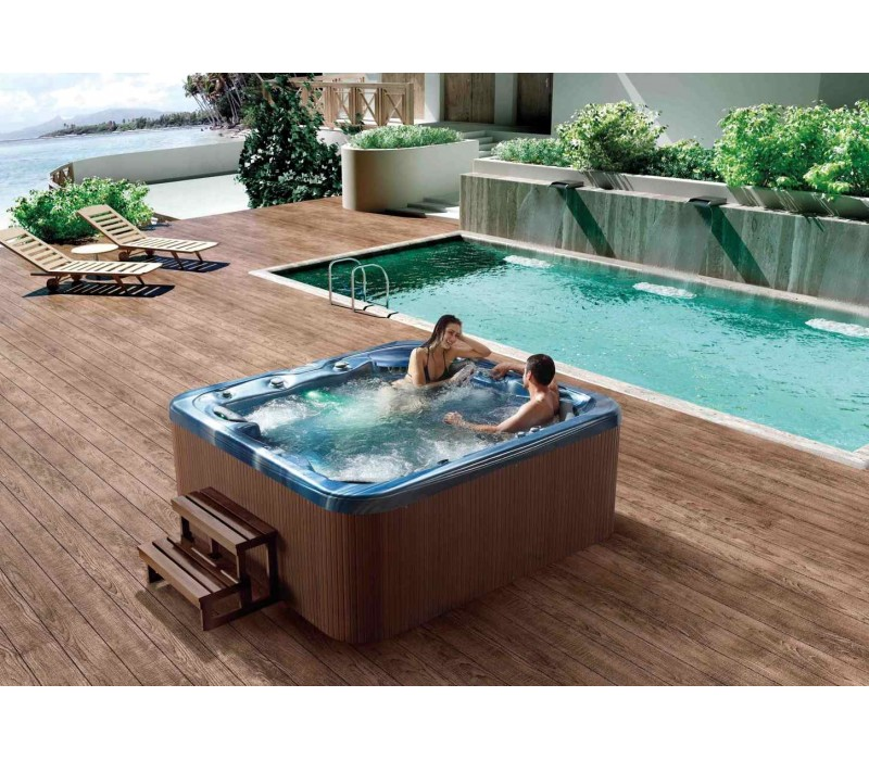 Spa jacuzzi hidromasaje de exterior at 011 for Jacuzzi exterior enterrado