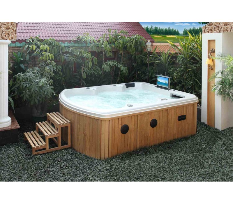 Spa jacuzzi hidromasaje de exterior as 020 for Jacuzzi exterior enterrado