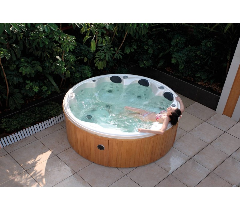 Spa jacuzzi hidromasaje de exterior as 006 for Jacuzzi exterior enterrado