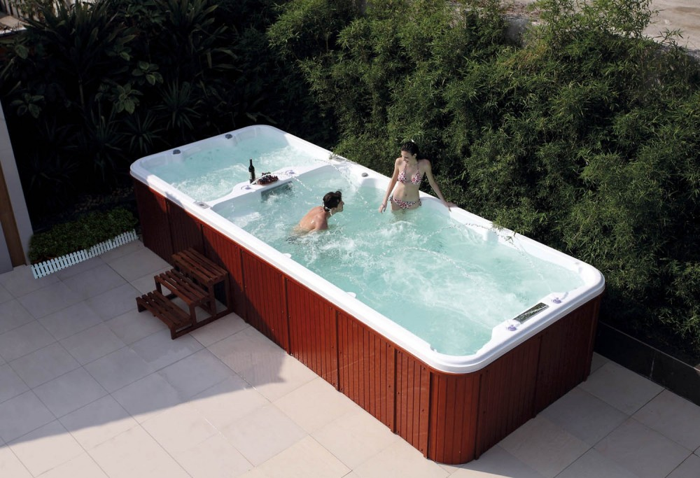 Piscina de hidromasaje swim spa at 004 for Precio de jacuzzi exterior