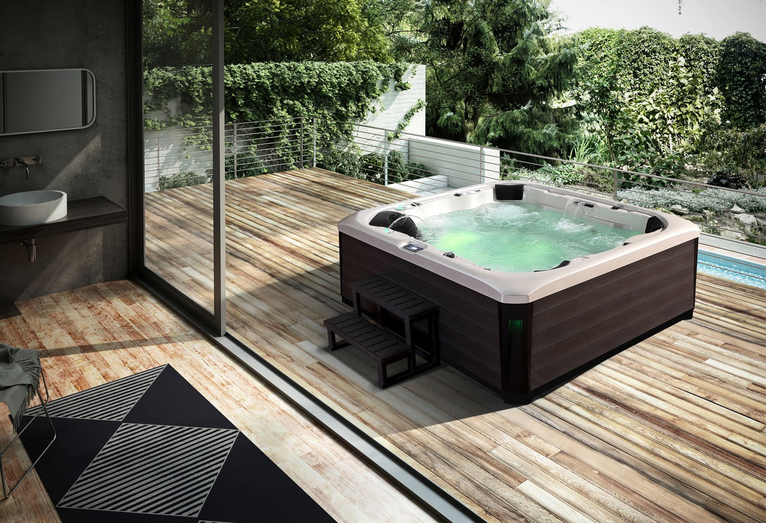 jacuzzi extrieur prix trendy vive les spas dkomaison jacuzzi encastrable exterieur prix with. Black Bedroom Furniture Sets. Home Design Ideas