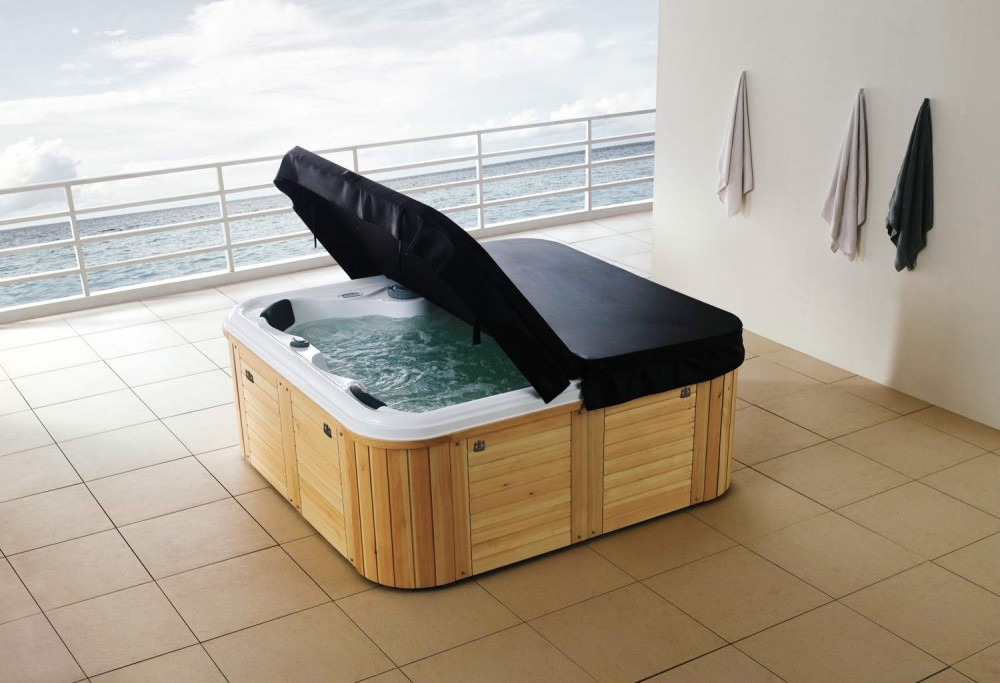 Spa jacuzzi hidromasaje de exterior as 004 for Jacuzzi exterior medidas