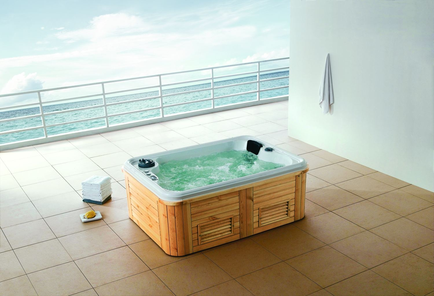 spa jacuzzi exterior as