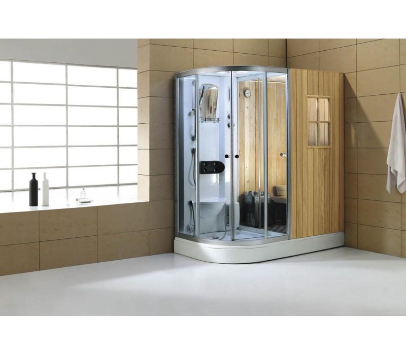 Sauna seca sauna h meda con ducha hidromasaje as 001 hidrosauna - Cabinas de ducha con sauna ...