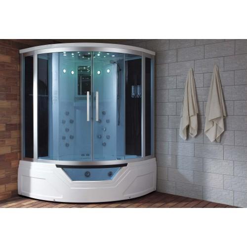 Cabina hidromasaje y bañera con sauna AT-012A