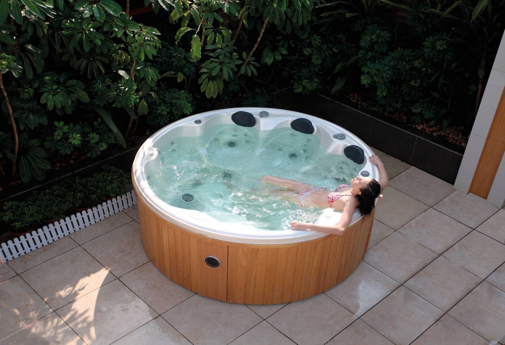 Spa jacuzzi hidromasaje de exterior as 006 for Construir jacuzzi exterior