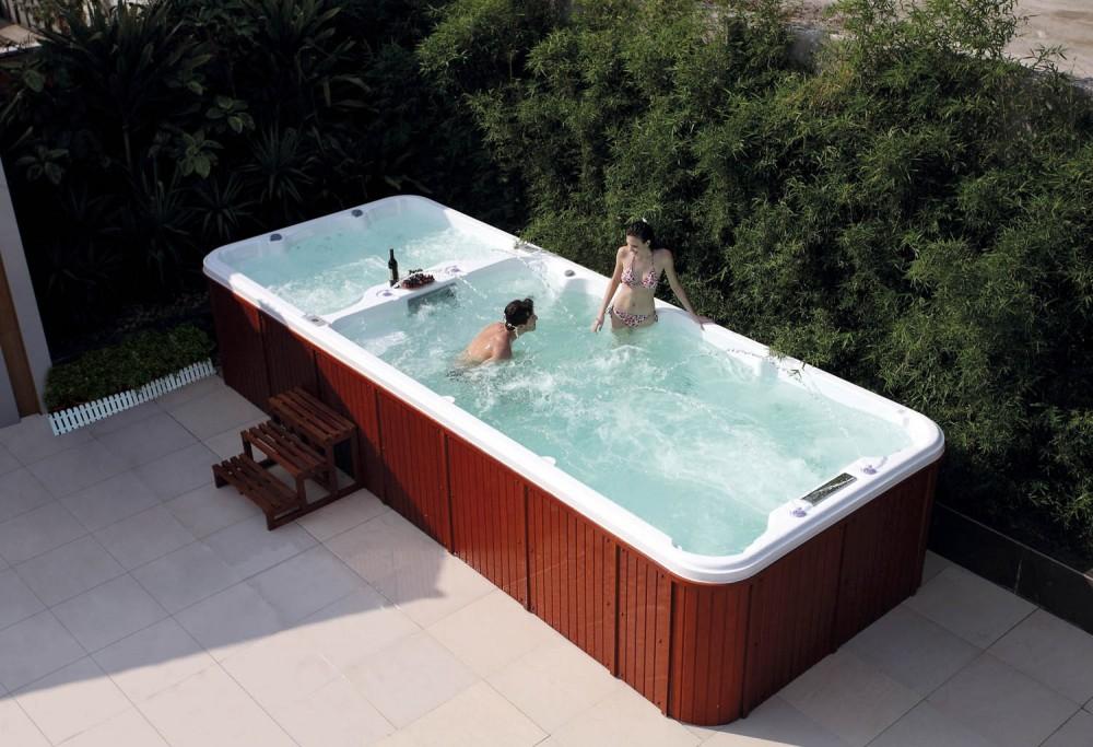 Piscina de hidromasaje swim spa at 004 - Spa con piscina in camera ...