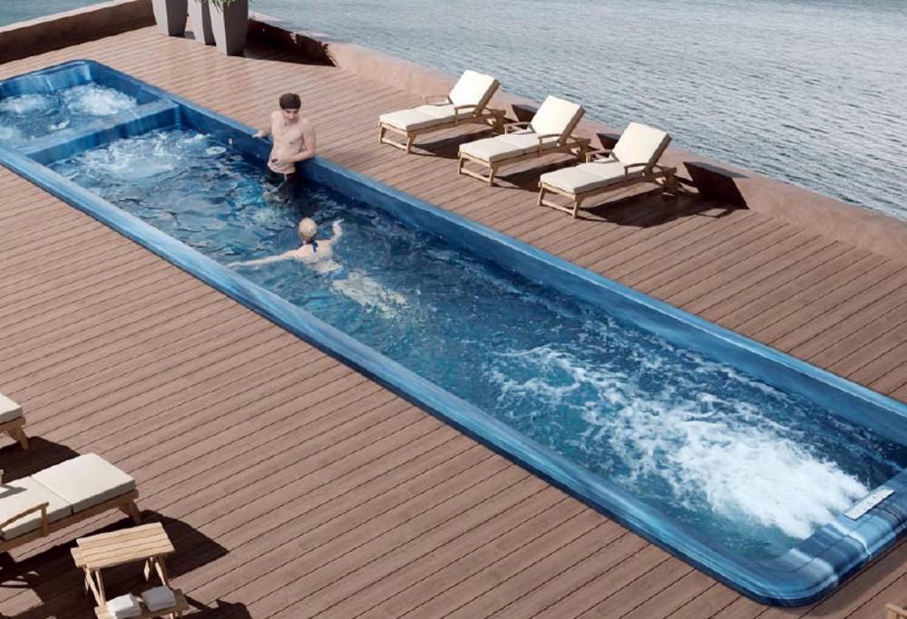 piscina de hidromasaje swim spa at 009. Black Bedroom Furniture Sets. Home Design Ideas