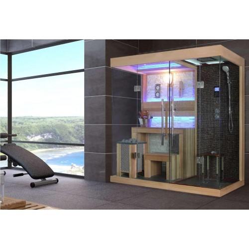 Sauna seca y sauna húmeda con ducha AT-001A