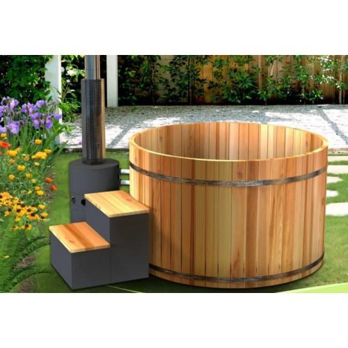 ofuro japons tina de madera exterior aub