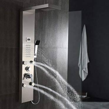 Cómo escoger un panel de ducha, sus ventajas y cuidados